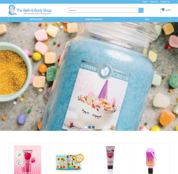Bath and Body Shop - E2EXpress Ecommerce Website
