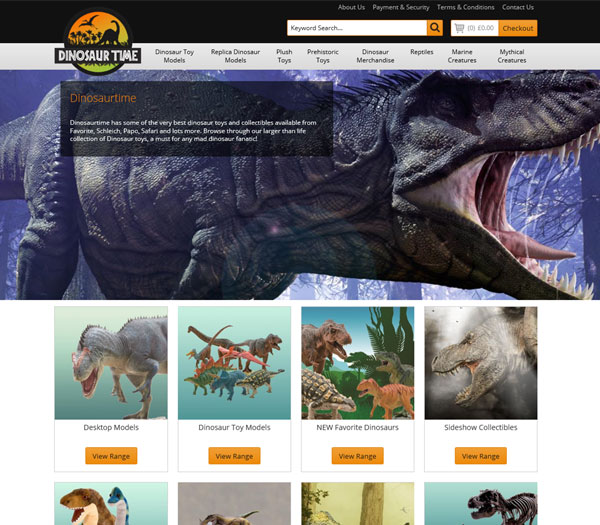 Dinosaur Time - E2EXpress Ecommerce Website