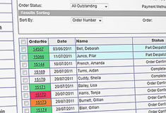 E2E Solutions' Manage Orders Screen